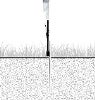 feather flag outdoor in-ground stake