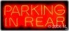 parking in rear retail neon signs