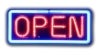 basic open neon signs
