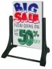 swinger write on wash off sidewalk sign retail display accessories