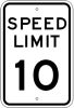 speed limit 10 stock traffic signs