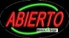 abierto open flashing neon signs