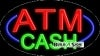 atm cash business flashing neon signs