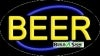 beer food and beverage flashing neon signs