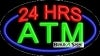 24 hrs atm business flashing neon signs