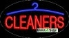 cleaners business flashing neon signs