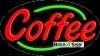 coffee food and beverage flashing neon signs