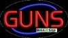 guns business flashing neon signs