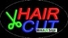 hair cut business flashing neon signs