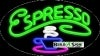 espresso food and beverage flashing neon signs