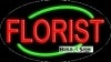 simple florist business flashing neon signs