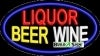 liquor beer wine food and beverage flashing neon signs