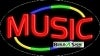 music business flashing neon signs