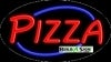pizza food and beverage flashing neon signs