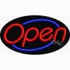 red open flashing neon signs