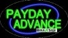 payday advance business flashing neon signs