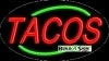tacos food and beverage flashing neon signs