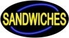 sandwiches food and beverage flashing neon signs