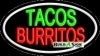tacos burritos food and beverage flashing neon signs