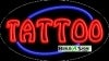 tattoo food and beverage flashing neon signs