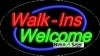 walk ins welcome business flashing neon signs