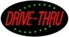 drive thru food and beverage led flashing neon signs