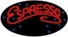 cursive espresso food and beverage led flashing neon signs