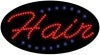 hair business led flashing neon signs
