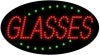 glasses business led flashing neon signs