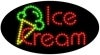 ice cream food and beverage led flashing neon signs