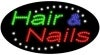 hair and nails business led flashing neon signs