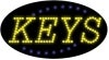 keys business led flashing neon signs