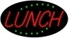 lunch food and beverage led flashing neon signs