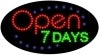 open 7 days open flashing led neon signs