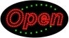 basic red open flashing led neon signs