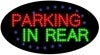 parking in rear food and beverage led flashing neon signs