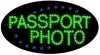 passport photo business led flashing neon signs