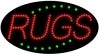 rugs business led flashing neon signs