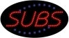 subs food and beverage led flashing neon signs