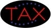 tax business led flashing neon signs