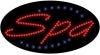 spa business led flashing neon signs