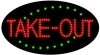 take-out food and beverage led flashing neon signs