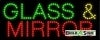 glass and mirror business led neon signs