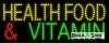 health food and vitamin food and beverage led neon signs