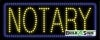notary business led neon signs