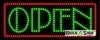 jazz green open led neon signs