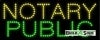 notary public business led neon signs