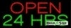 24 hours open led neon signs