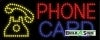 phone card business led neon signs