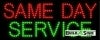 same day services business led neon signs